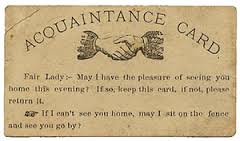 Aquaintance Card